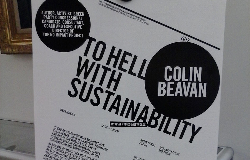 To hell with sustainability!